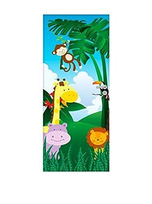 Ambiance Live Vinilo Decorativo Door 204x83 cm - Jungle animals Multicolor