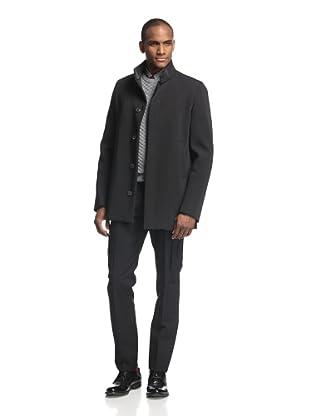 Calvin Klein Collection Men's Bonded Nylon Overcoat (Black)