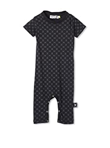 NUNUNU Baby Checkered Play Suit (Black)