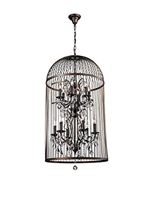 CDI Furniture Large Bird Cage Chandelier, Rust