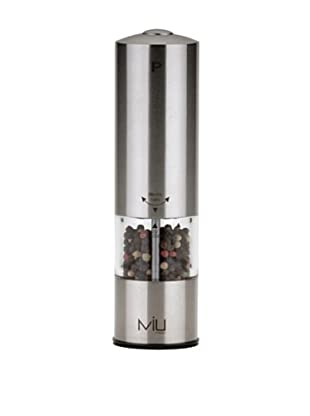 MIU France Battery-Operated Stainless Steel Pepper Mill