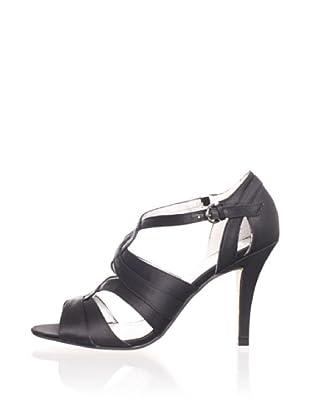 Adrienne Vittadini Women's Geraldine Twisted Sandal (Black)