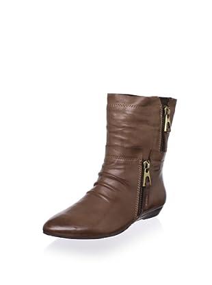 Chocolat Blu Women's Amelia Low Wedge Boot (Brown Leather)