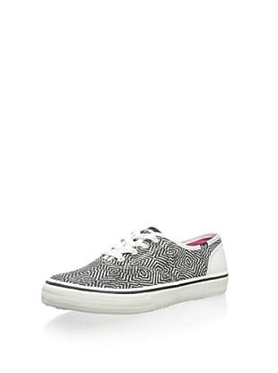 Keds Women's Double Dutch Optic Fashion Sneaker (Black/White)