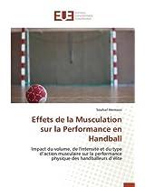 Effets de La Musculation Sur La Performance En Handball (Omn.Univ.Europ.)