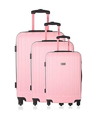 Travel ONE Set de 3 trolleys rígidos Wigan Rosa