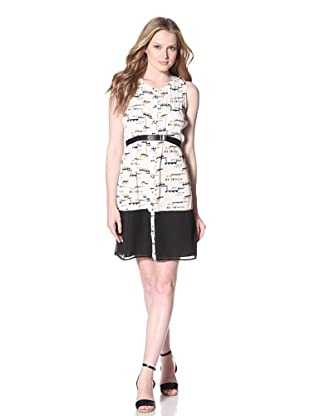 PJK Patterson J. Kincaid Women's Dakota Button Dress (Ivory Multi)