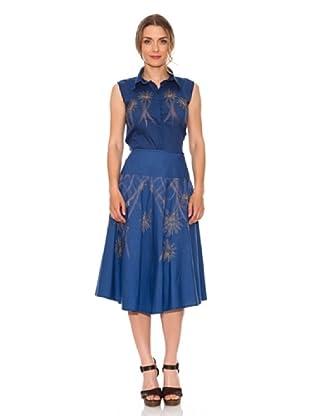 Strena Conjunto Camisa+Falda (Azul)