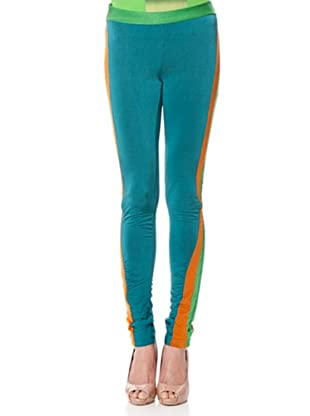 Custo Barcelona Leggings Megumi (Blau/Orange)