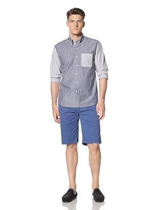 Cutter and Buck Men's Barnacle Stripe Shirt (Indigo)