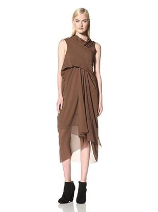 Rick Owens Women's Drape-Front Dress (Resin)