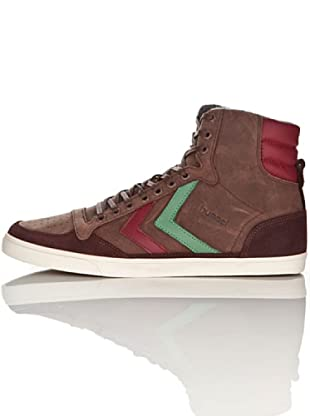 Hummel Zapatillas Abotinadas Ten Star Oiled High Unisex (Chocolate)