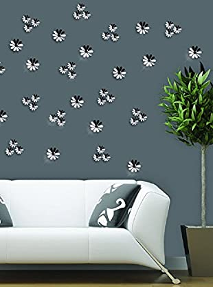 Ambiance Live Wandtattoo 12 tlg. Set 3D Adhesive Flowers Chic - Mirror