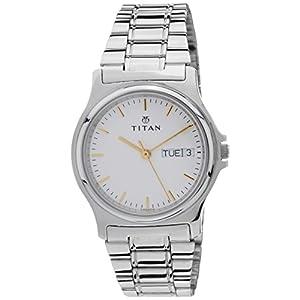 Titan Karishma Analog White Dial Men's Watch - NE390SM04