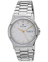 Titan Karishma Analog White Dial Men's Watch - NE390SM04