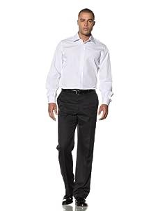 Yves Saint Laurent Men's Dalia Italian Collar Dress Shirt (White/Light Blue)