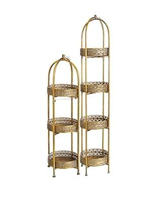 Concept Luxury Regal 2er Set Arabian Decoration goldfarben
