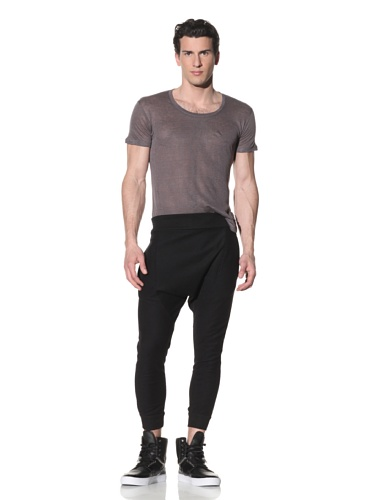 Hip and Bone Men's Terry Drop Fitted Shorts (Black)