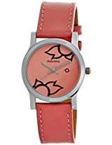Maxima Attivo Steel Analog Pink Dial Women's Watch - 23346LMLI
