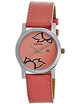 Maxima Attivo Steel Analog Pink Dial Women's Watch - 23346LMLI
