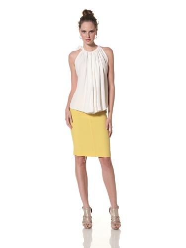 Juan Carlos Obando Women's Silk Sleeveless Top (Ivory)