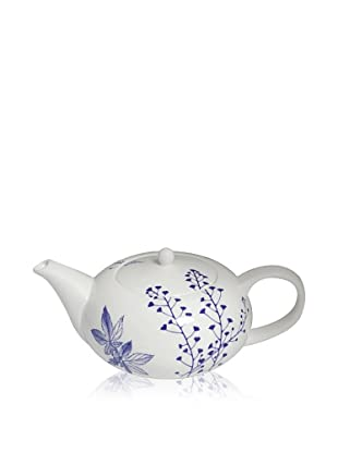 Elinno Evergreen Blues Teapot, White/Blue