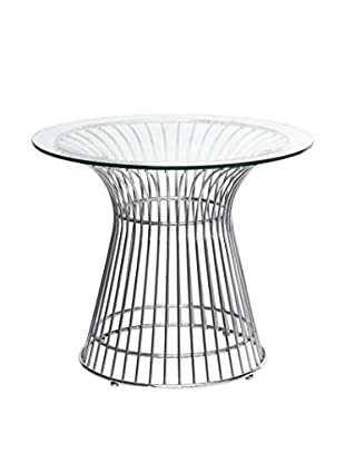 Manhattan Living Glass Wire Side Table