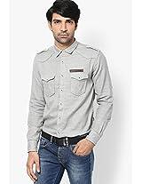 Grey Casual Shirt Spykar