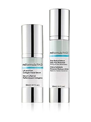 MD FORMULA  Beauty-Set 2 tlg. Deluxe Collagen Lifting Serum, Free-Radical Defense Daily Face Moisturiser