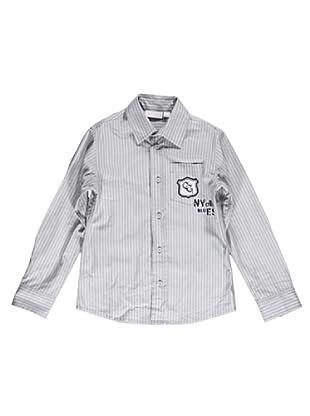 Camisa Rayas (Gris Claro)