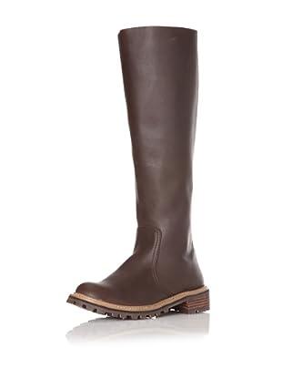 ALL BLACK Women's Lug Knee-High Boot (Coffee)