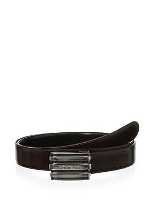 Mont Blanc Men's Contemporary Reversible Belt (Black/brown)