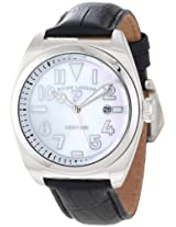Swiss Legend Watches, Men's Heritage White MOP Dial Black Genuine Leather, Model 20434-02MOP