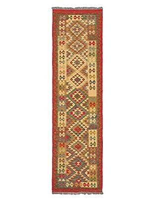 Hand-Woven Anatolian Kilim, Light Gold/Red, 2' 8