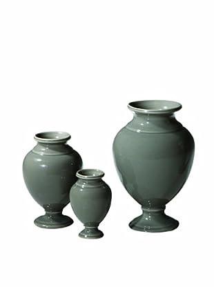 Global Views Set of 3 Pompeii Urns, Stone