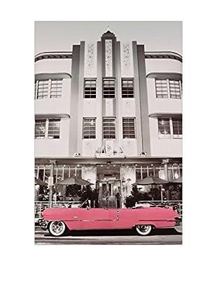 Artopweb Panel de Madera Pink Cadillac