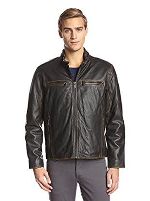 Andrew Marc Men's Cuervo Distressed Moto Leather Jacket