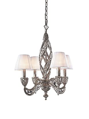 Artistic Lighting Renaissance 4-Light Chandelier, Sunset Silver