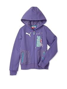 PUMA Girl's 7-16 Pocket Star Hoodie (Purple Opulance)