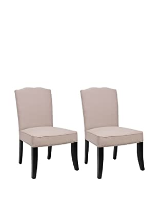 Safavieh Set of 2 Terrie Side Chairs, Taupe