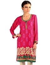 Sorbet pink embroidery readymade kurti