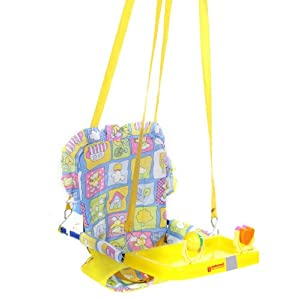 Mothertouch Top Swing Yellow with Heart Rattle