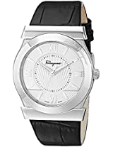Salvatore Ferragamo Mens FI0980014 Vega Analog Display Swiss Quartz Black Watch
