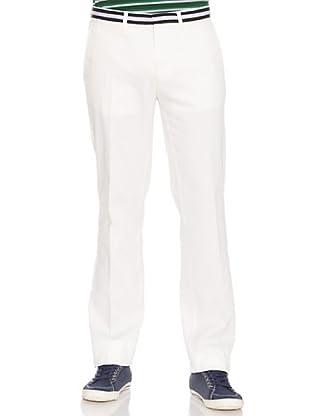 PEDRO DEL HIERRO Pantalón Liso (Blanco)