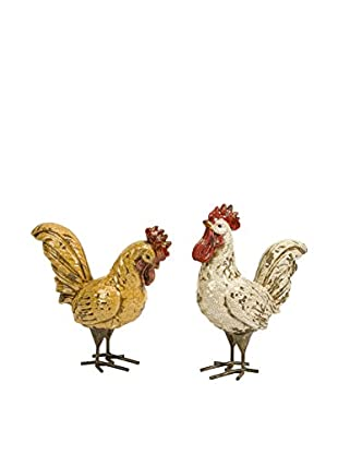 Set of 2 Parson Rooster Figurines