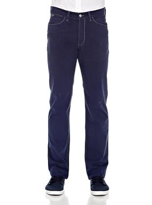 Carrera Jeans Pantalón Gabardina Stretch (Azul)