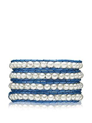 Lucie & Jade Armband  blau/silberfarben