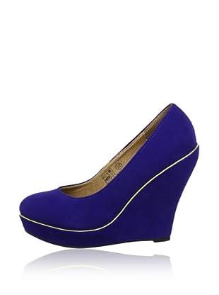 Buffalo Girl 324836 SY SUEDE 140878 - Zapatos de vestir  mujer (Azul)