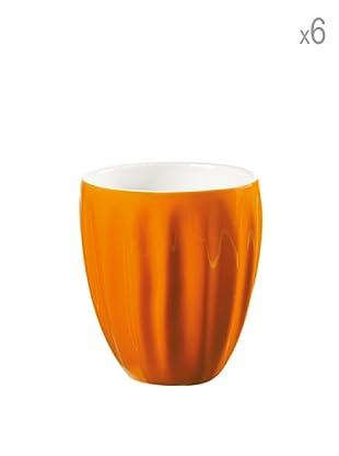 Guzzini Set 6 Mug Aqua Arancio