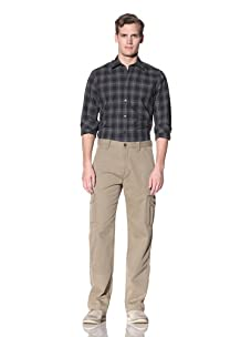 Hickey Freeman Sterling Men's Flat Front Cargo Pant (Army)